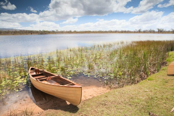 canoe in tropical paradise experience freedom explore and adventure in Mareeba wetlands Queensland Australia tourism in wilderness